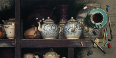 Painting Old Chinese Pottery